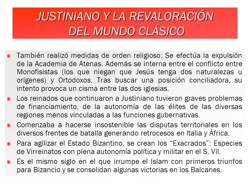 JUSTINIANO Y LA REVALORACIÓN DEL MUNDO CLÁSICO