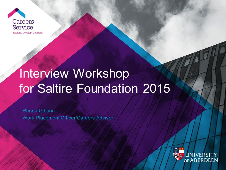 Interview Workshop For Saltire Foundation 2015  Interview Workshop