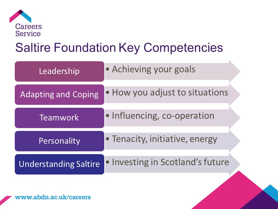 Saltire Foundation Key Competencies