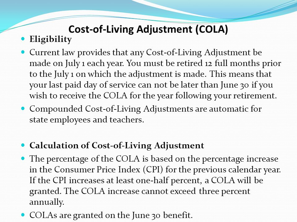 Cost-of-Living Adjustment (COLA)