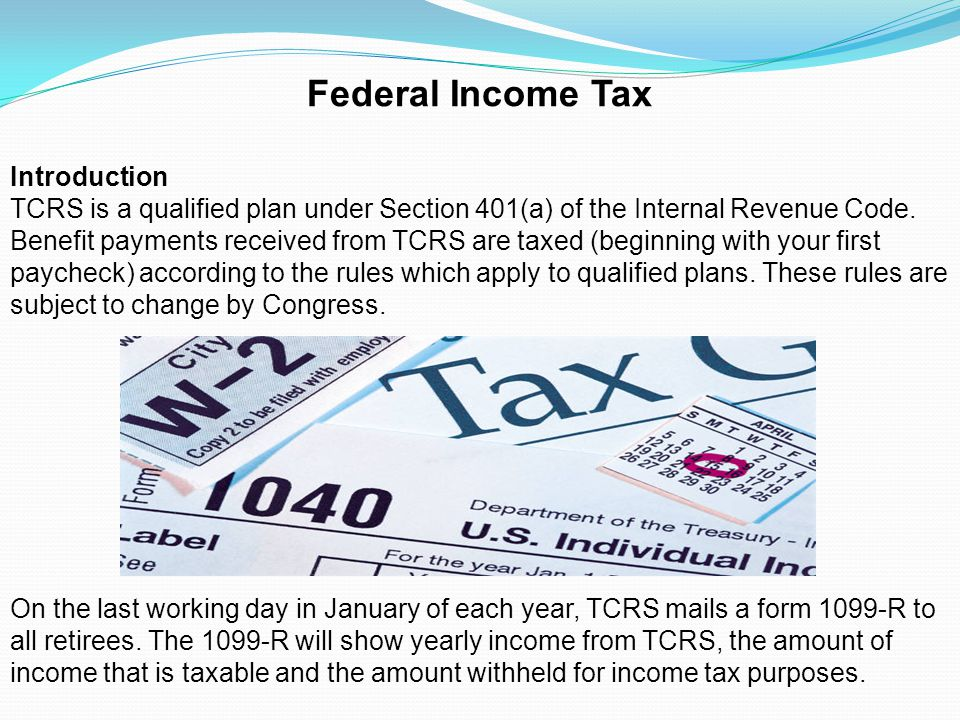 Federal Income Tax Introduction
