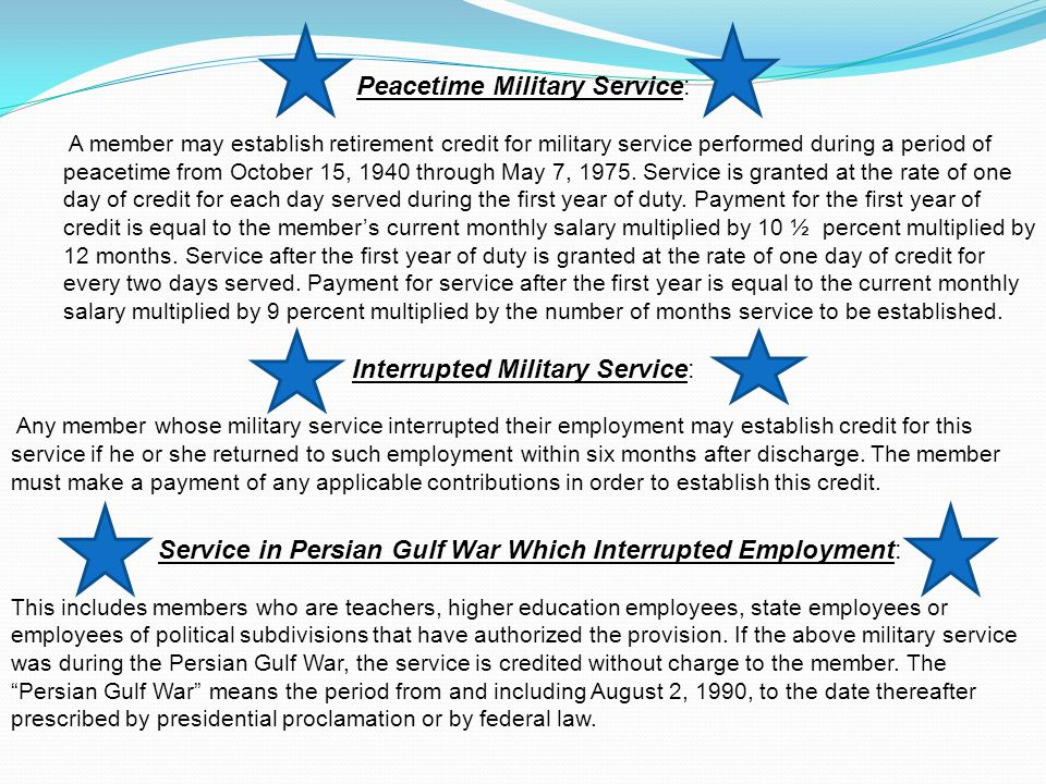 Peacetime Military Service: