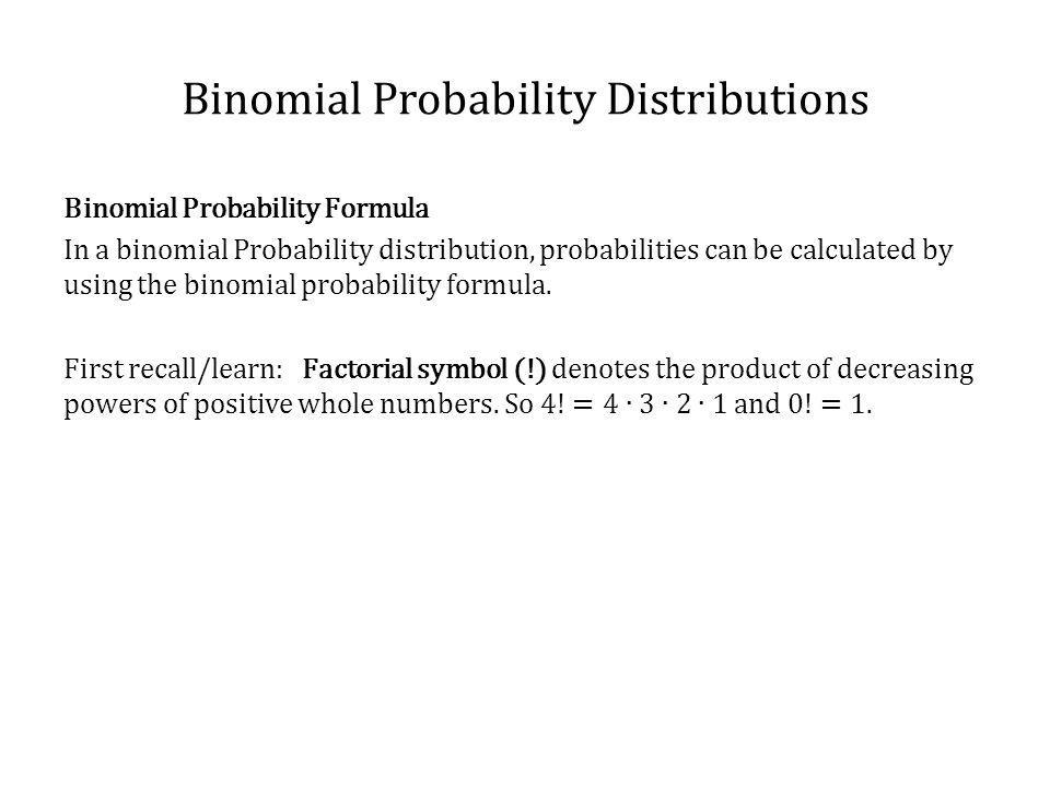 Binomial Probability Distributions