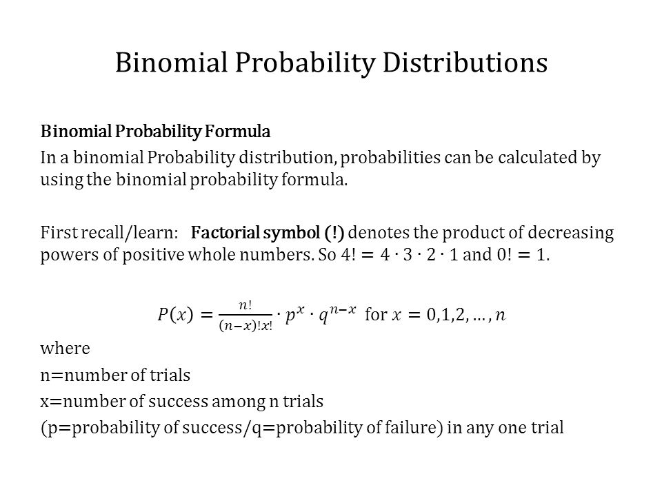 binomial how to find p