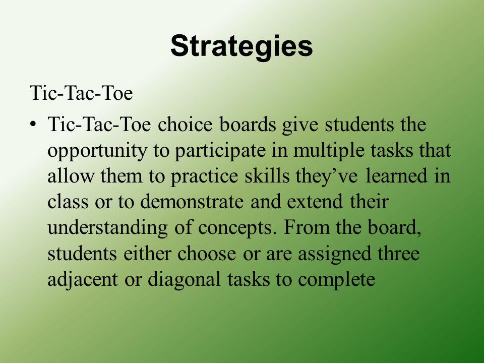 Strategies Tic-Tac-Toe