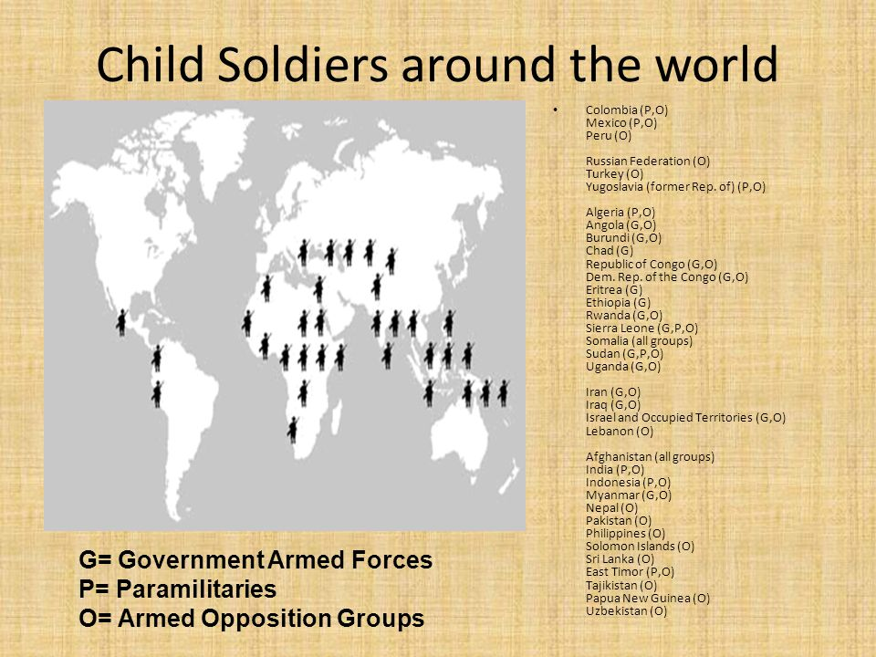 Child Soldiers around the world