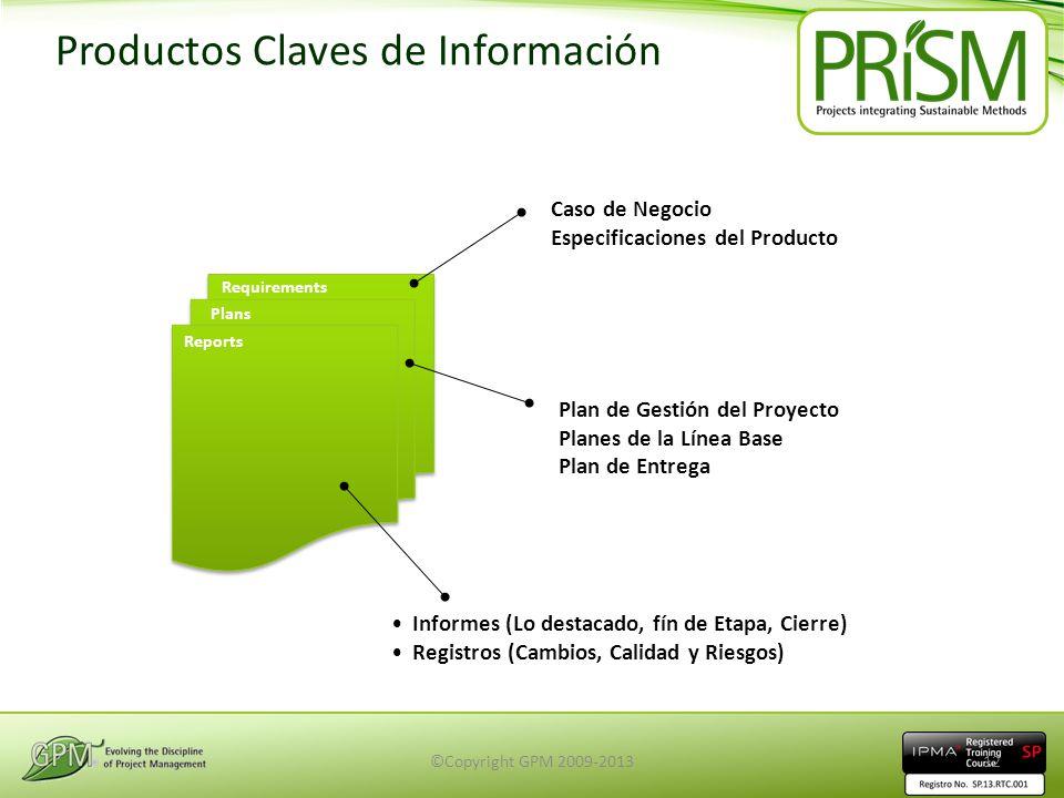 Productos Claves de Información