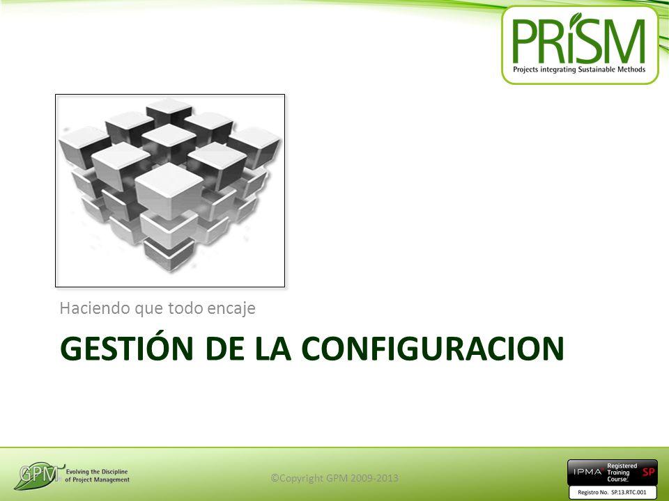 Gestión de la Configuracion