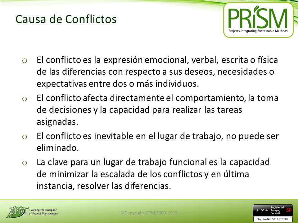 Causa de Conflictos
