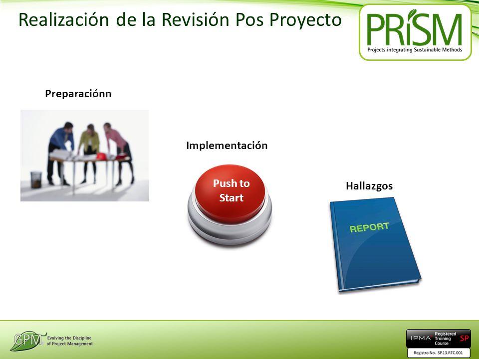 Realización de la Revisión Pos Proyectoa Project Review