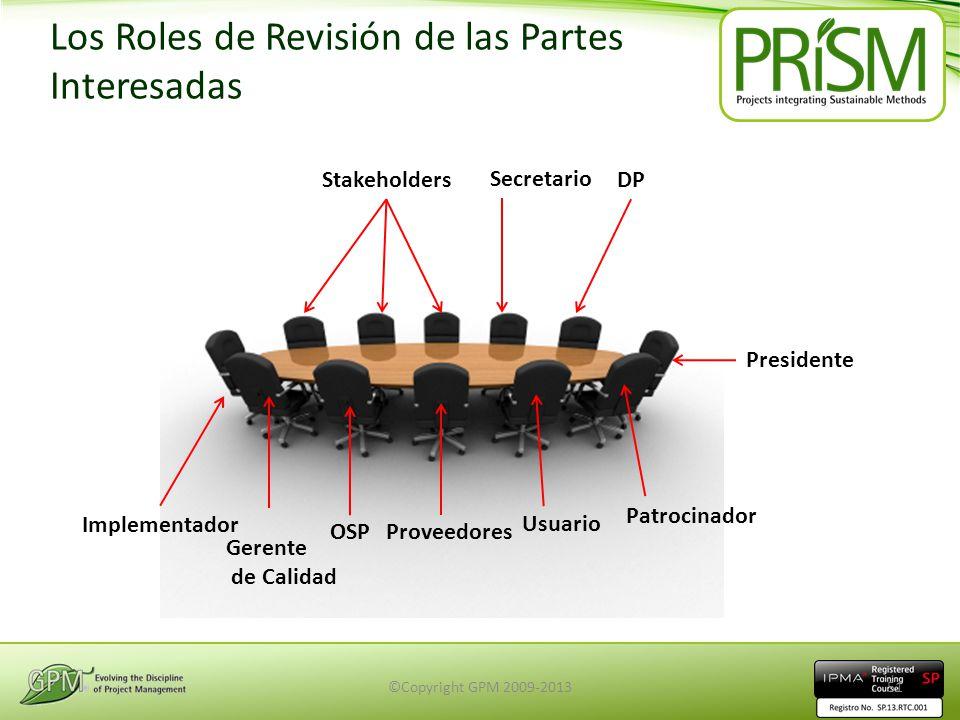Los Roles de Revisión de las Partes Interesadas