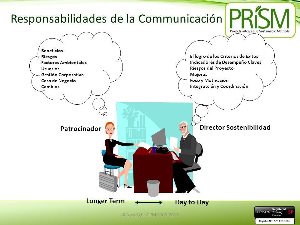 Responsabilidades de la Communicación