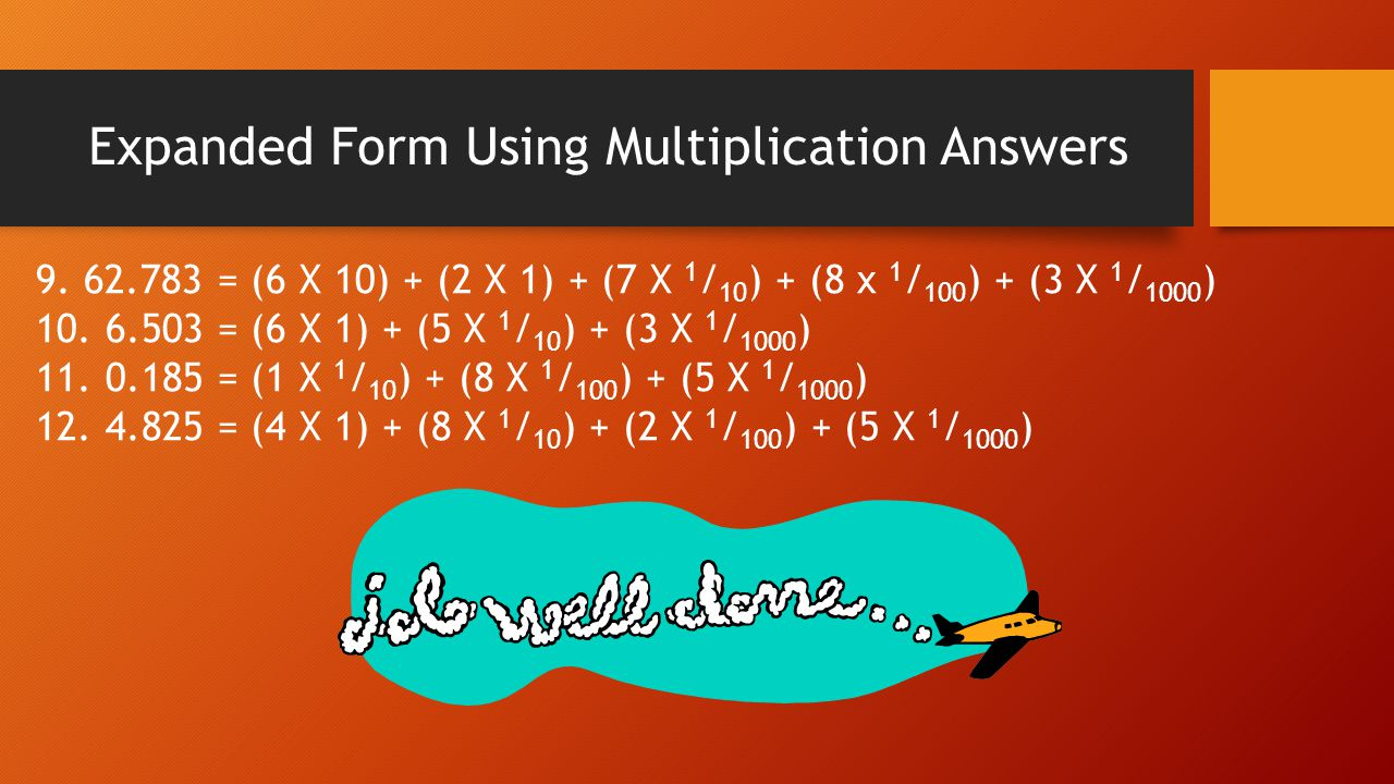 Expanded Form Using Multiplication Answers