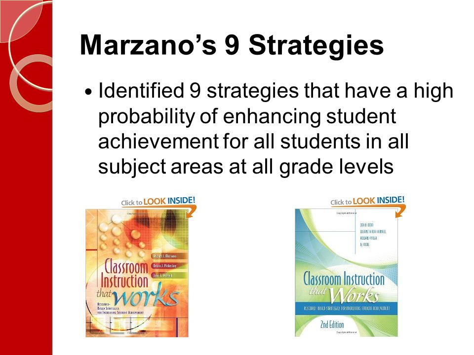 Marzano's 9 Strategies