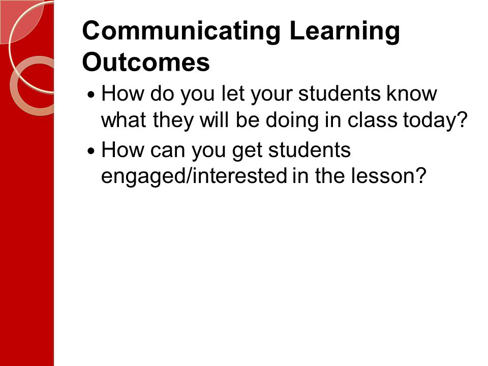 Communicating Learning Outcomes