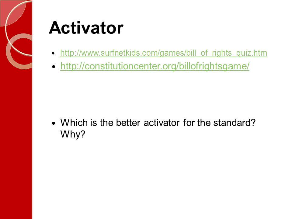 Activator http://constitutioncenter.org/billofrightsgame/