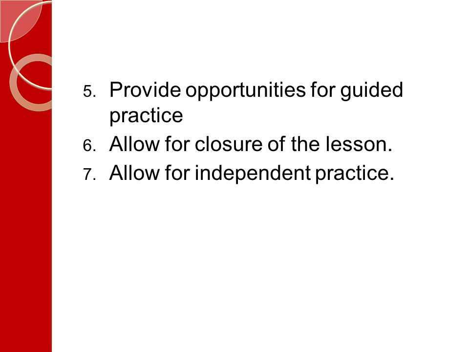 Provide opportunities for guided practice