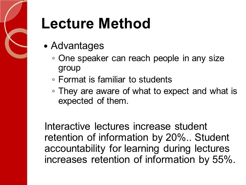 Lecture Method Advantages