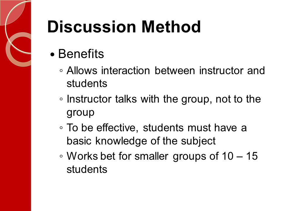 Discussion Method Benefits
