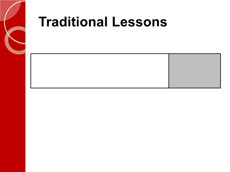 Traditional Lessons