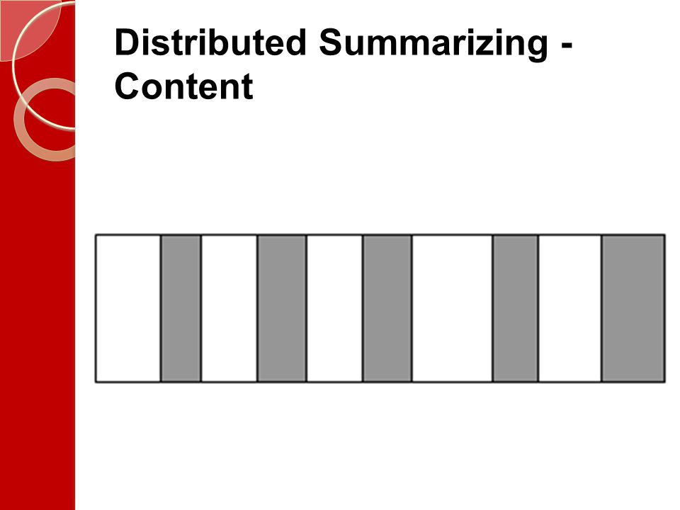 Distributed Summarizing - Content