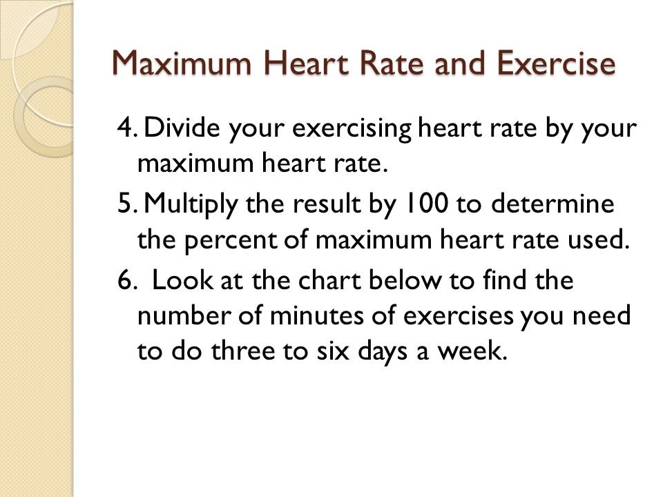 Maximum Heart Rate and Exercise