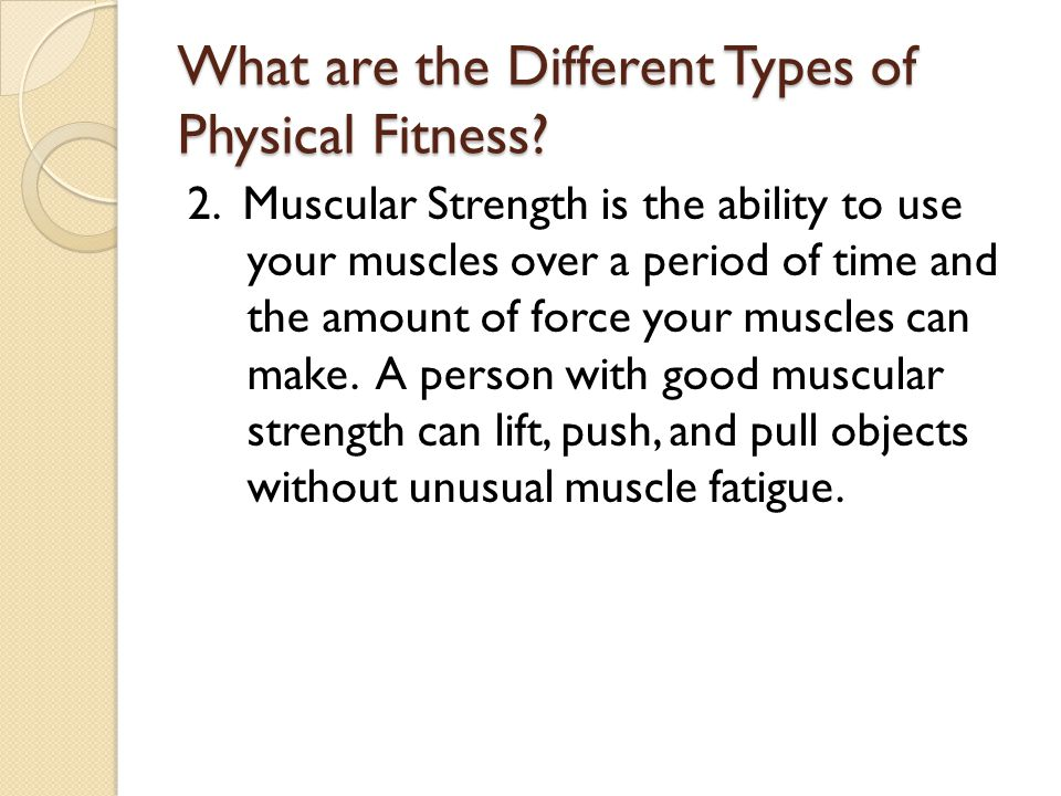 What are the Different Types of Physical Fitness