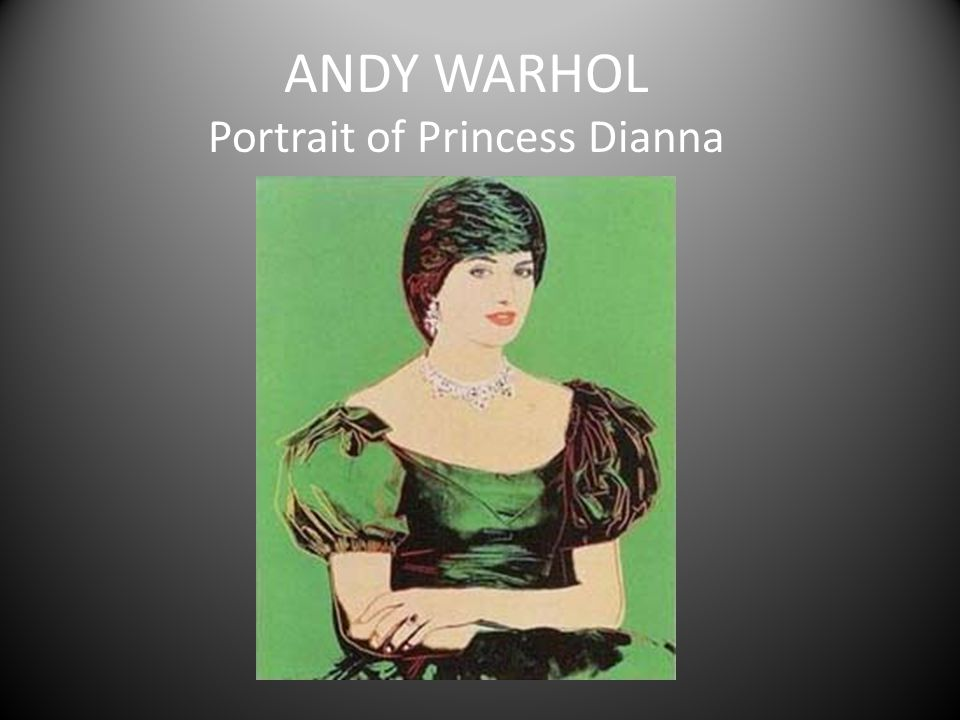 ANDY WARHOL Portrait of Princess Dianna