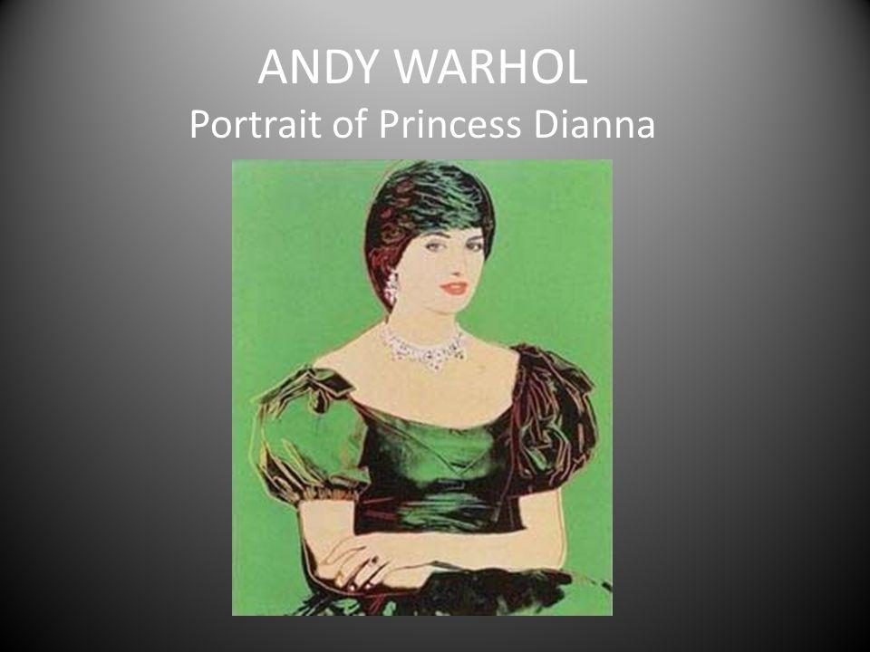 ANDY WARHOL Portrait of Princess Dianna