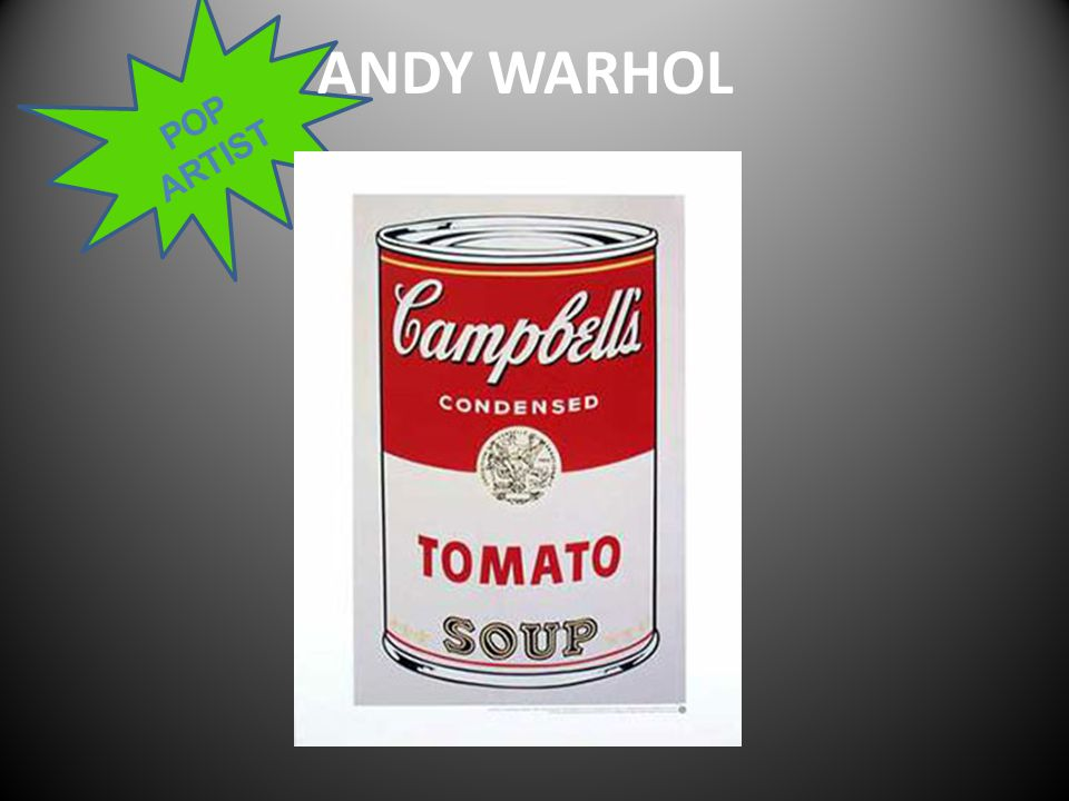 POP ARTIST ANDY WARHOL