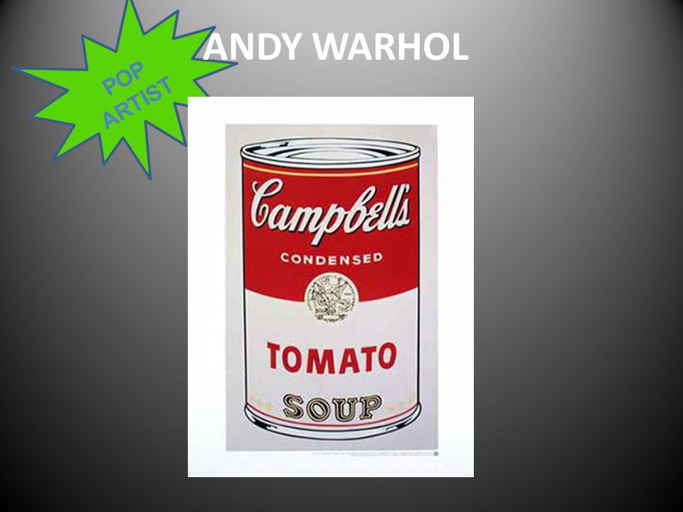 POP ARTIST ANDY WARHOL