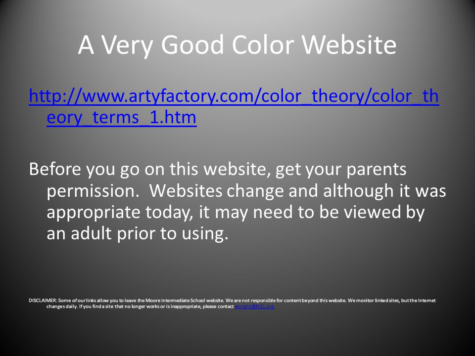 A Very Good Color Website
