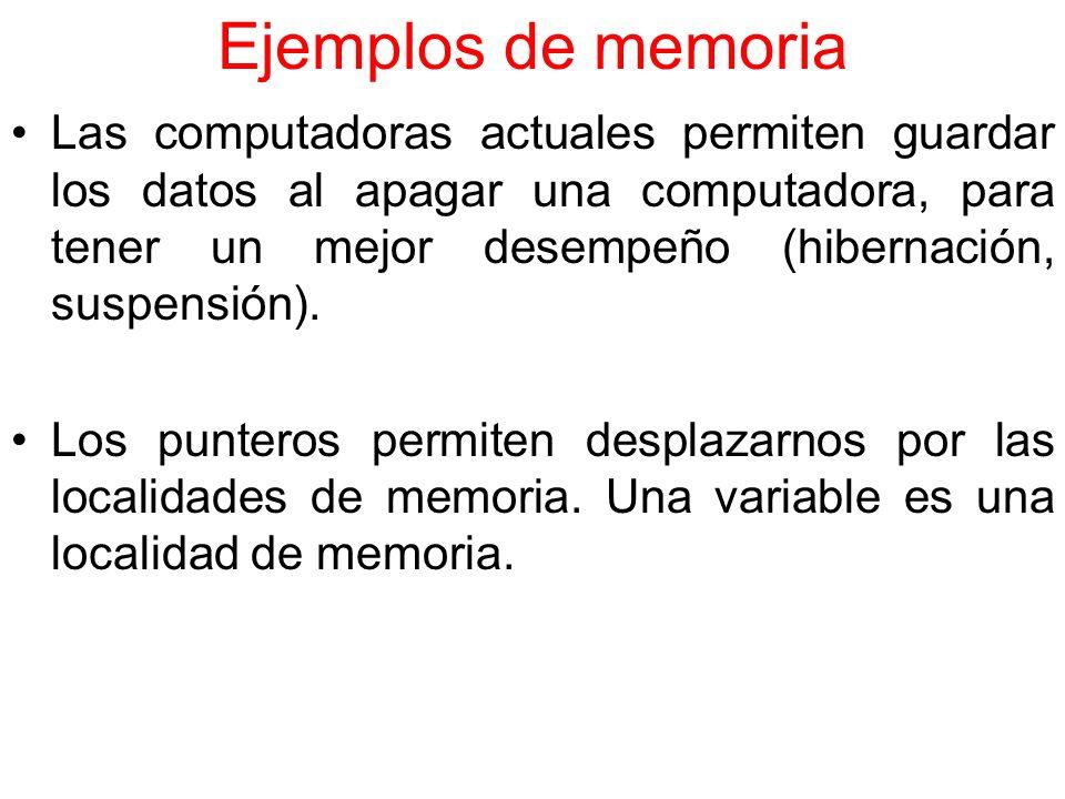 Ejemplos de memoria