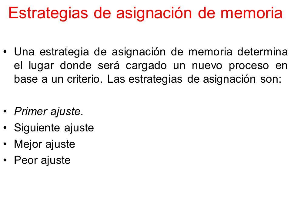 Estrategias de asignación de memoria