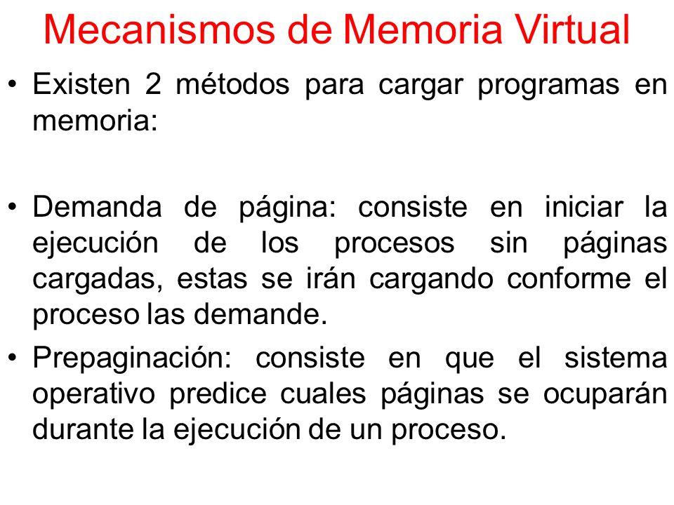 Mecanismos de Memoria Virtual