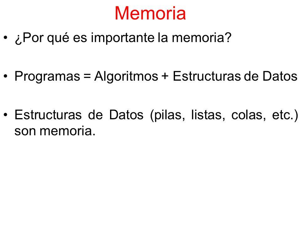 Memoria ¿Por qué es importante la memoria
