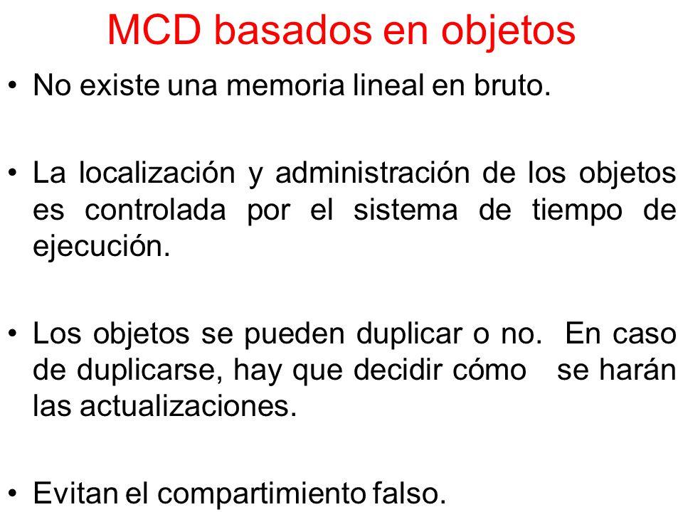 MCD basados en objetos No existe una memoria lineal en bruto.