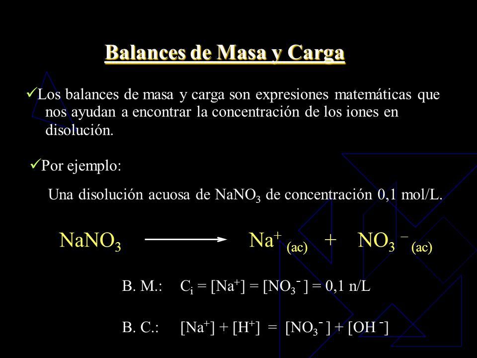 Balances de Masa y Carga