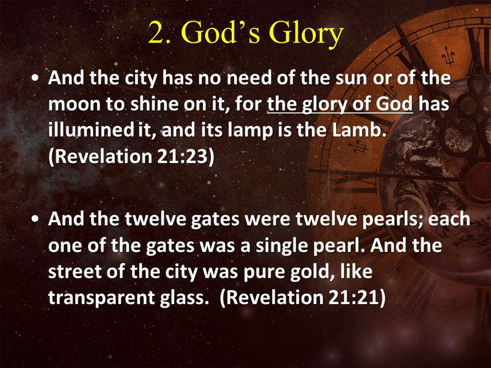 2. God's Glory