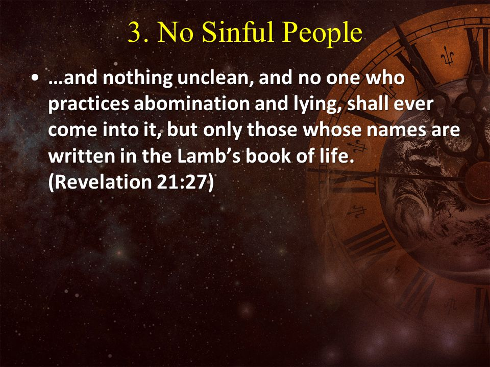 3. No Sinful People