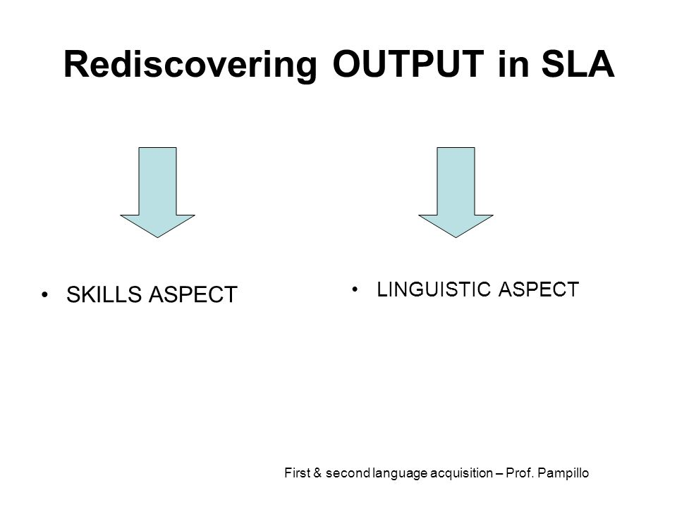 Rediscovering OUTPUT in SLA