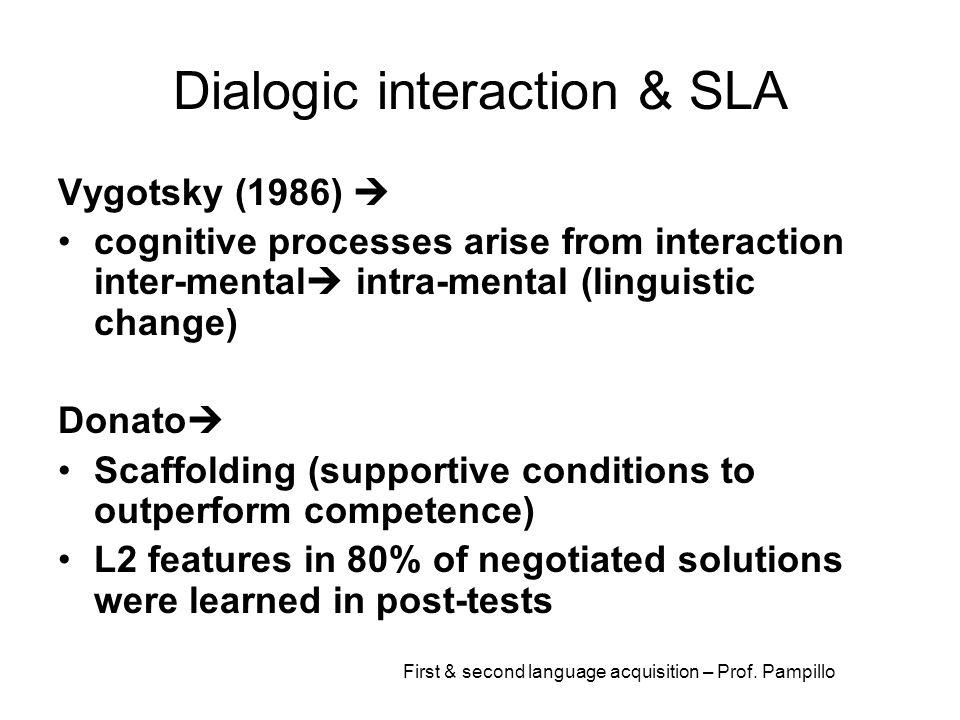 Dialogic interaction & SLA