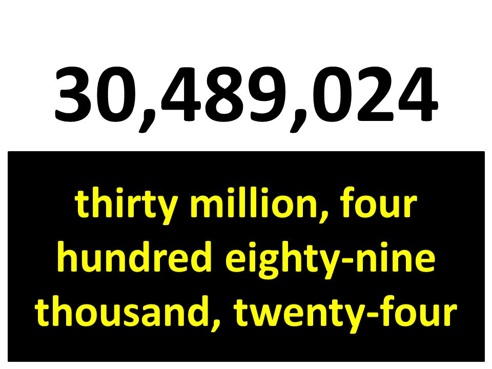 thirty million, four hundred eighty-nine thousand, twenty-four