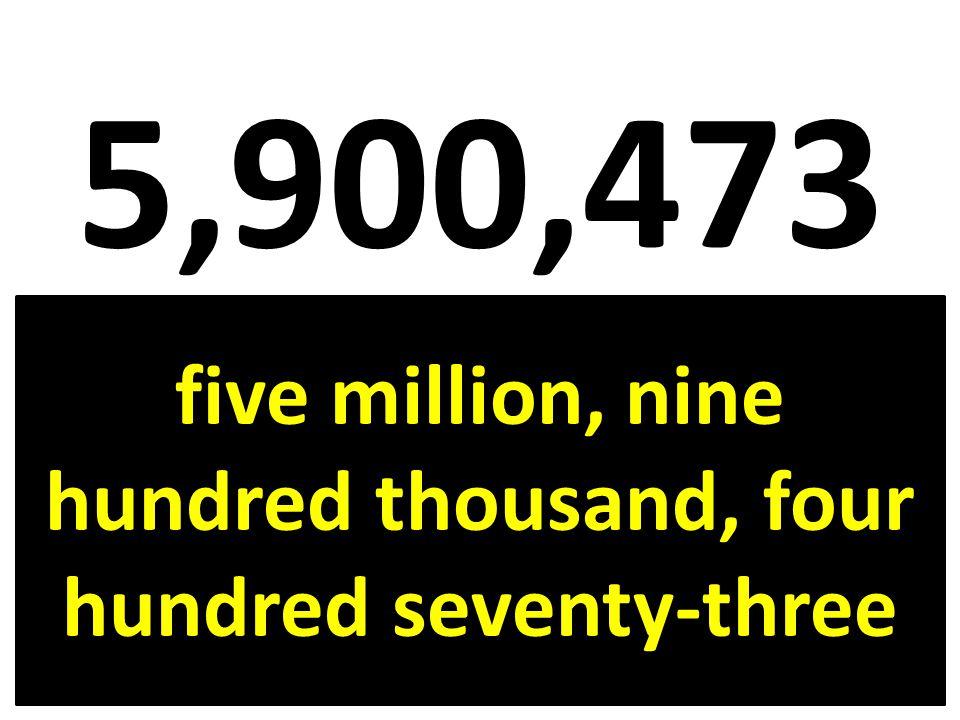 five million, nine hundred thousand, four hundred seventy-three