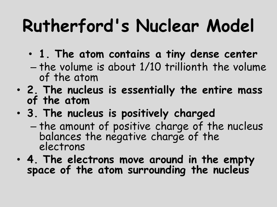 Rutherford s Nuclear Model