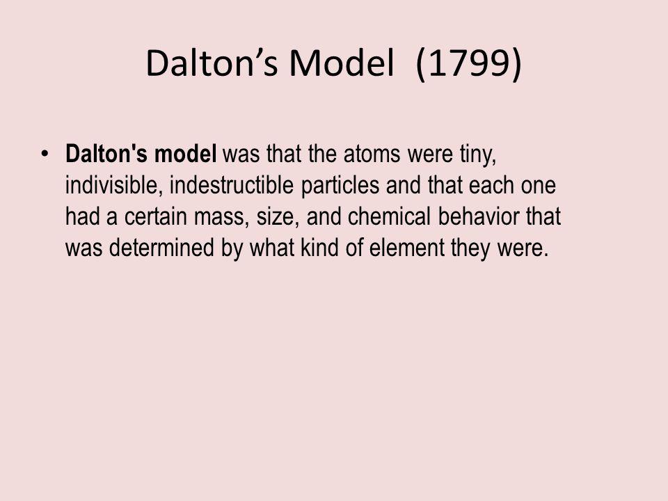 Dalton's Model (1799)