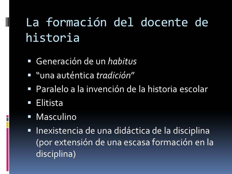 La formación del docente de historia