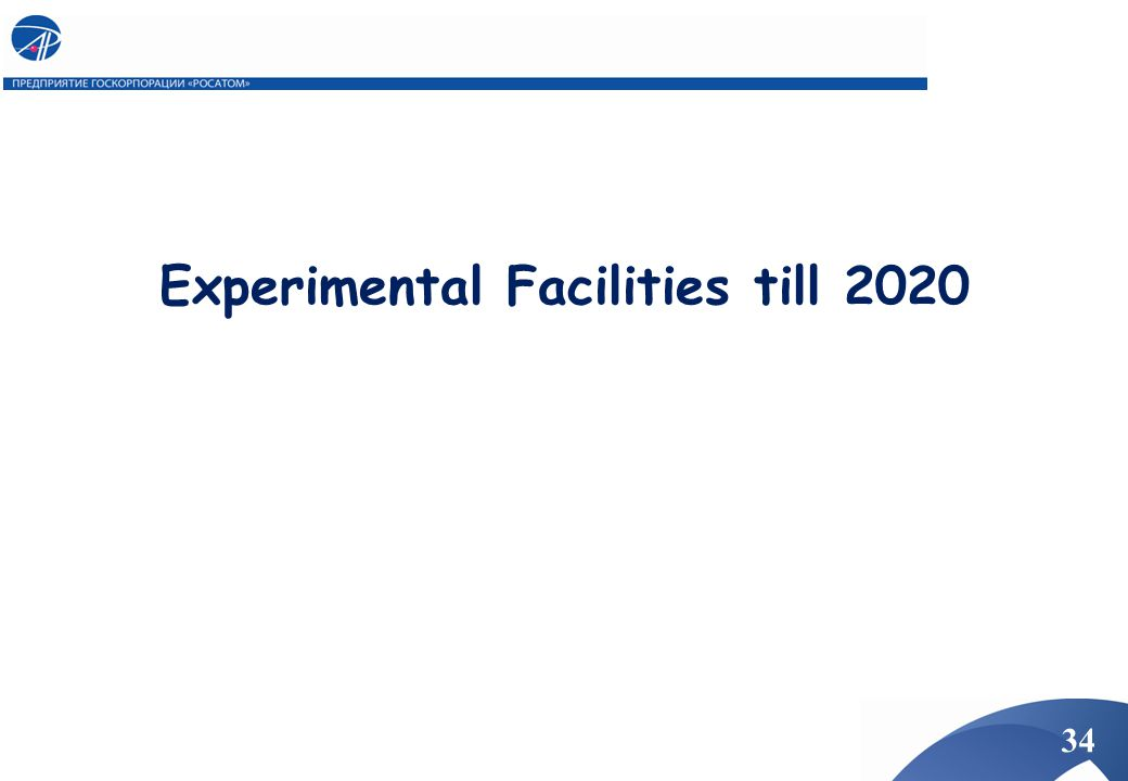 Experimental Facilities till 2020