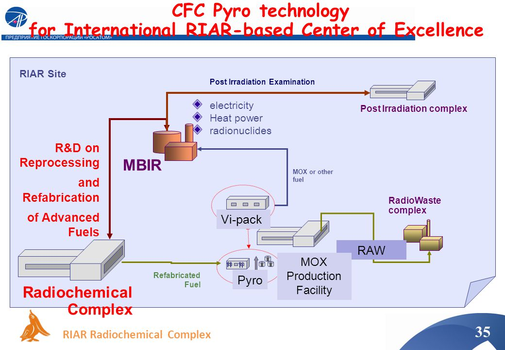 CFC Pyro technology for International RIAR-based Center of Excellence