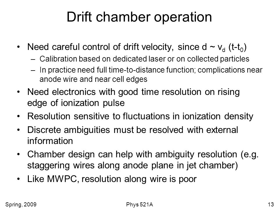 Drift chamber operation